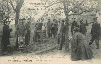 """CPA FRANCE 27 """"Orgeville, cercle Familial, guerre du droit 1914"""" / JEUX JOUET"""