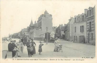 """CPA FRANCE 14 """"Saint Aubin sur Mer, entrée de la rue Pasteur"""""""
