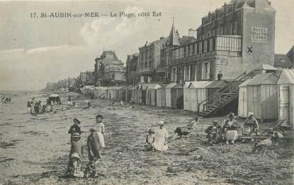 """CPA FRANCE 14 """"Saint Aubin sur Mer, la plage"""""""