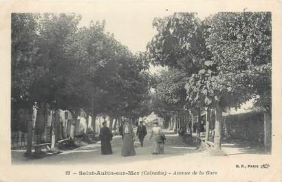 """CPA FRANCE 14 """"Saint Aubin sur Mer, avenue de la gare"""""""