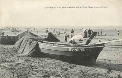 """CPA FRANCE 14 """"Saint Aubin sur Mer, la plage à marée basse"""""""
