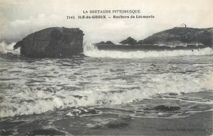 """CPA FRANCE 56 """"Ile de Groix, rochers de Locmaria"""""""