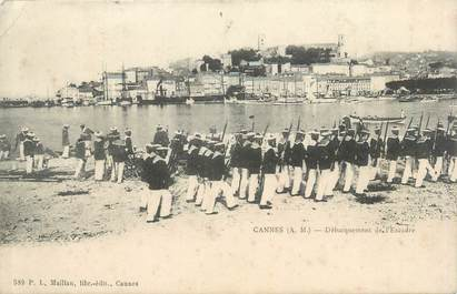 """CPA FRANCE 06 """"Cannes, débarquement de l'Escadre """""""
