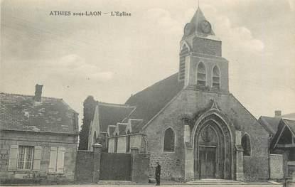 """CPA FRANCE 02 """"Athis sous Laon, l'église"""""""