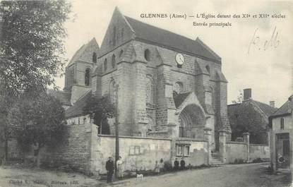 """CPA FRANCE 02 """"Glennes, l'église, entrée principale"""""""