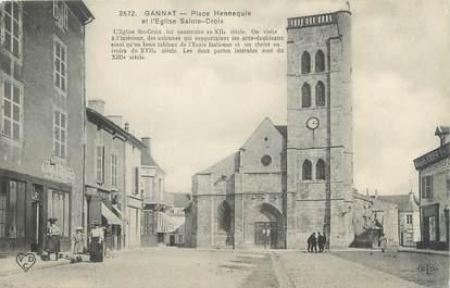 "CPA FRANCE 03 ""Gannat, place Hennequin"""