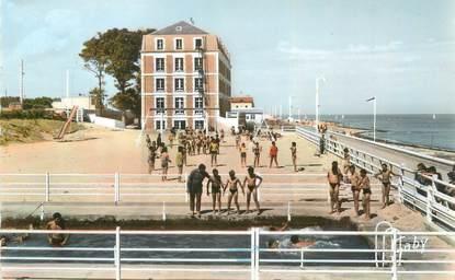 """CPSM FRANCE 14 """"Saint Aubin sur Mer, colonie de vacances les Joies du rivage"""""""
