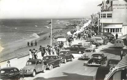 """CPSM FRANCE 14 """"Saint Aubin sur Mer, la plage"""" / AUTOMOBILE / CITROEN"""