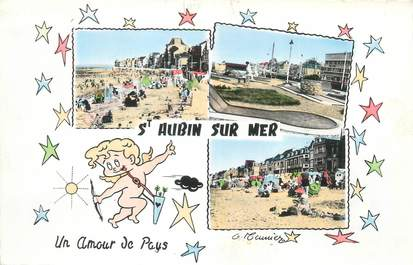 """CPSM FRANCE 14 """"Saint Aubin sur Mer"""""""