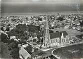 """14 Calvado CPSM FRANCE 14 """"Saint Aubin sur Mer, l'église"""""""