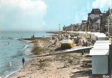 """CPSM FRANCE 14 """"Saint Aubin sur Mer, la plage"""""""
