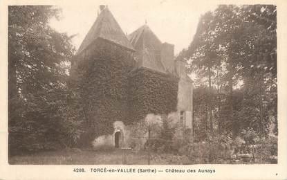 """CPA FRANCE 72 """"Torcé en vallée, château des Aunays"""""""