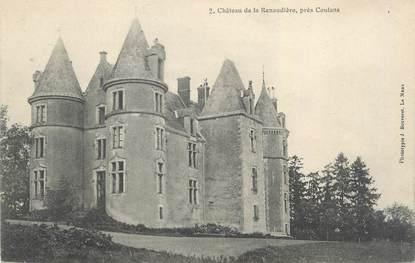 """CPA FRANCE 72 """"Château de la Renaudière"""""""