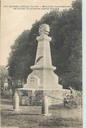 """CPA FRANCE 72 """"Savigné L'Evêque, monument aux morts"""""""