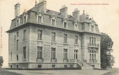 """CPA FRANCE 72 """"Château de Saint Christophe du Jambet"""""""