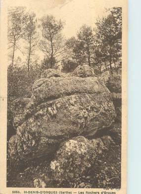 """CPA FRANCE 72 """"Saint Denis d'Orques, les rochers d'Orgues"""""""