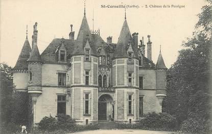 """CPA FRANCE 72 """"Saint Corneille, château de la Perrigne"""""""