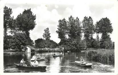 """CPSM FRANCE 72 """"Ruille sur Loir, le lavoir et la piscine"""""""