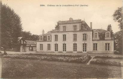 """CPA FRANCE 72 """"Château de la Livaudière à Fay"""""""