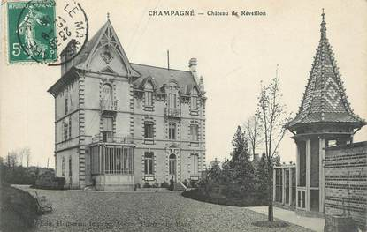 """CPA FRANCE 72 """"Champagné, château de Réveillon"""""""