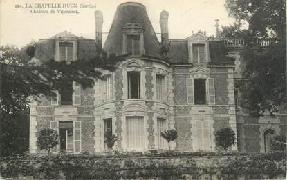 """CPA FRANCE 72 """"La Chapelle Huon, château de Villemont"""""""