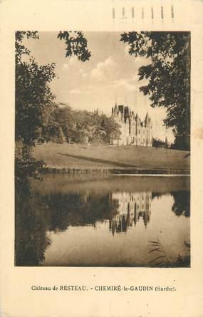 """CPA FRANCE 72 """"Chemiré le Gaudin, château de Resteau"""""""