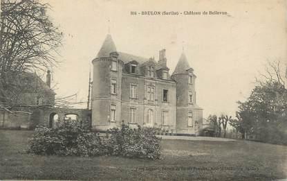 "CPA FRANCE 72 ""Brûlon, château de Bellevue"""