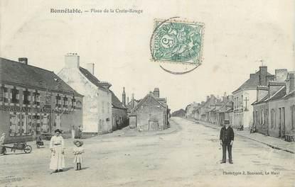 """CPA FRANCE 72 """"Bonnetable, place de la Croix rouge"""""""