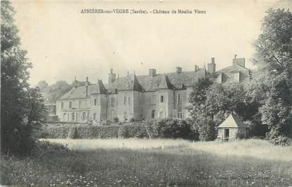 """CPA FRANCE 72 """"Asnières sur Vègre, château de Moulin vieux"""" / DOS NON CP"""