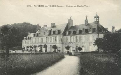 """CPA FRANCE 72 """"Asnières sur Vègre, château de Moulin vieux"""""""