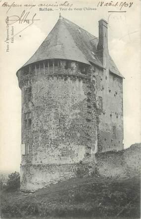 """CPA FRANCE 72 """"Ballon, tour du vieux château"""""""