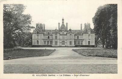 """CPA FRANCE 72 """"Aillères, le château, cour d'honneur"""""""