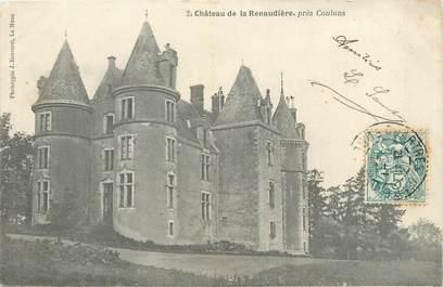 """CPA FRANCE 72 """"Château de la Renaudière près Coulans"""""""