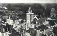"""72 Sarthe CPSM FRANCE 72 """"Pontvallain, l'église et la mairie"""""""