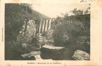 """CPA CONGO BELGE """"Boma, barrage de la Kalamu"""""""