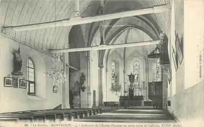 """CPA FRANCE 72 """"Montbizot, intérieur de l'église"""""""