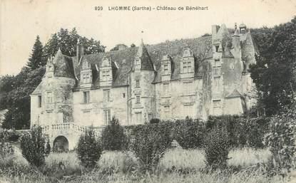 """CPA FRANCE 72 """"Lhomme, château de Bénéhart"""""""