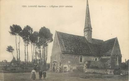 """CPA FRANCE 72 """"Lavaré, l'église"""""""