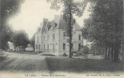 """CPA FRANCE 72 """"Le Lude, château de la Gannetière"""""""
