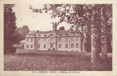 """CPA FRANCE 72 """"Lombron, château de Loresse"""""""
