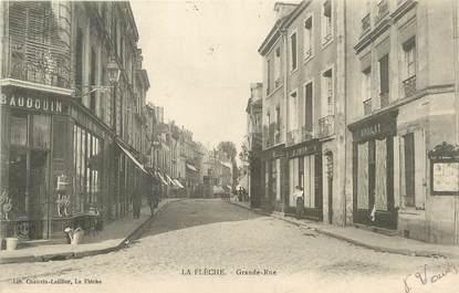 """CPA FRANCE 72 """"La Flèche, grande rue """""""