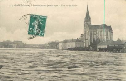 """CPA FRANCE 72 """"Sablé sur Sarthe"""" / INONDATIONS"""