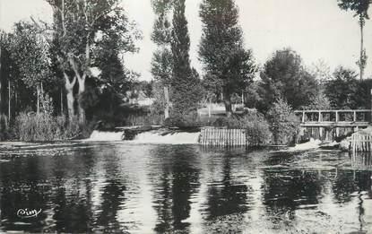"""CPSM FRANCE 72 """"Connerré, barrage du moulin sur l'huisne"""""""