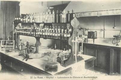 """CPA FRANCE 72 """"Le Mans, hôpital, laboratoire de Chimie et bactériologie"""""""