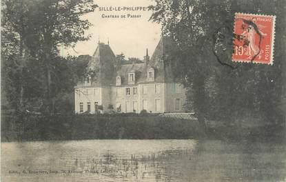 """CPA FRANCE 72 """"Sillé Le Philippe, château de Passay"""""""