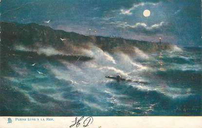"""CPA TUCK """"Pleine lune à la mer"""""""