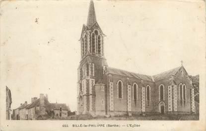 """CPA FRANCE 72 """"Sillé Le Philippe, l'église"""""""