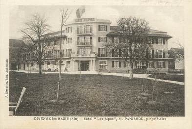 """CPA FRANCE 01 """"Divonne les Bains, hôtel Les Alpes"""""""
