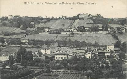 """CPA FRANCE 01 """"Miribel, le coteau et les ruines du vieux château"""""""