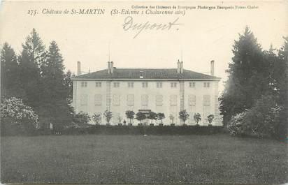"""CPA FRANCE 01 """"Saint Etienne sur Chalaronne, château de Saint Martin"""""""
